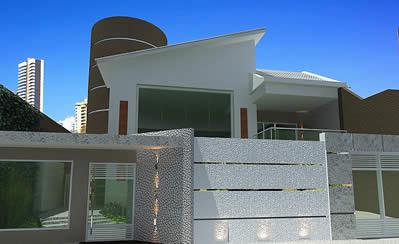 Fachadas de casas modernas com port o decorando casas for Fachadas chalets modernos