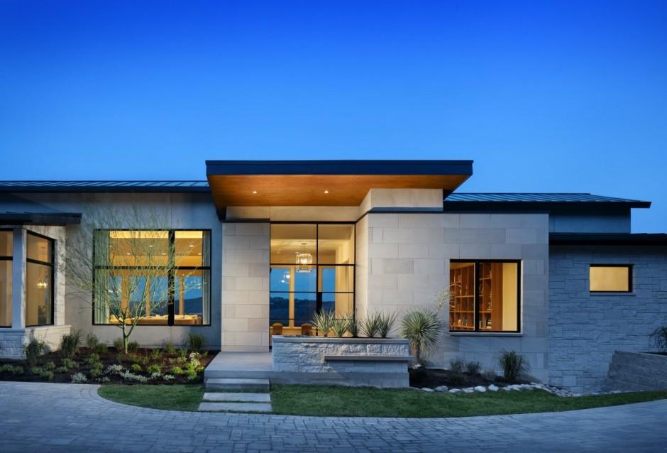 Fachadas de casas modernas com telhado embutido e for Modern house designs usa