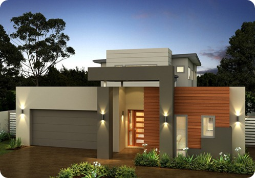 Fachadas de casas modernas com telhado embutido e for Fachadas para casas pequenas de una planta