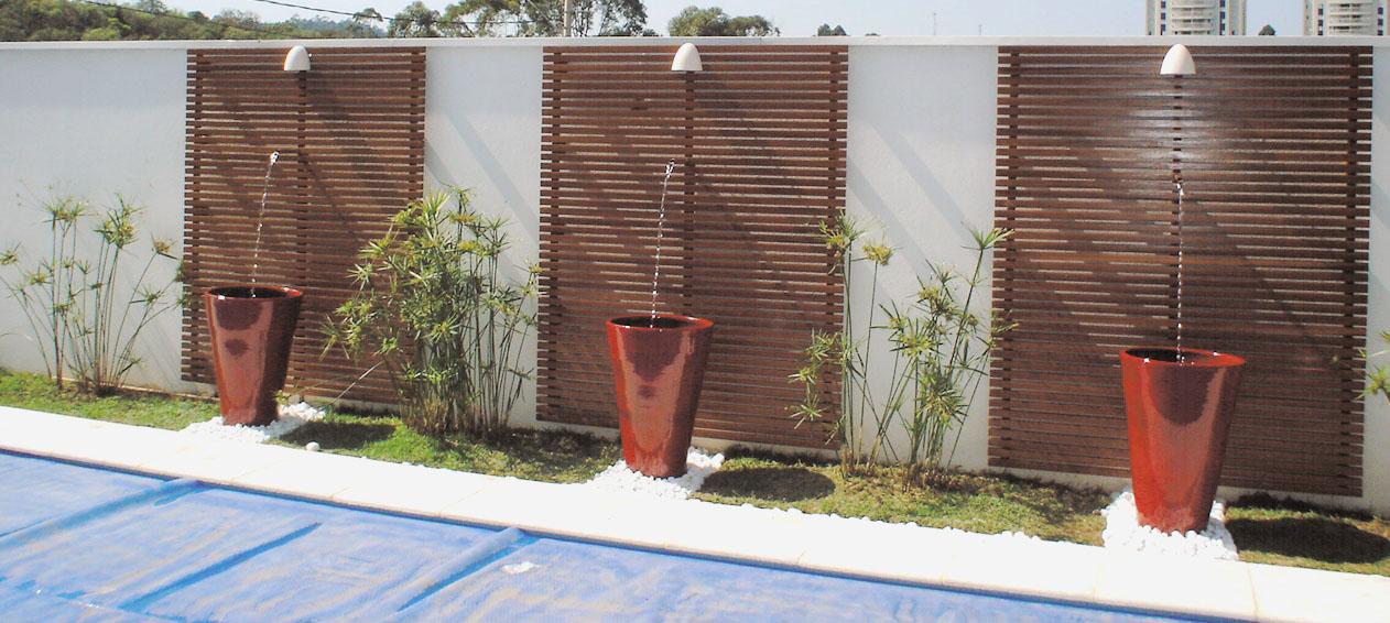 Muros de vidro e madeira para casas decorando casas - Vallas exteriores para casas ...