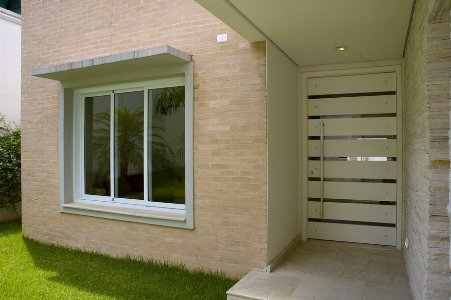 Revestimento para parede externa em cer mica decorando casas - Ceramica para fachadas casas ...