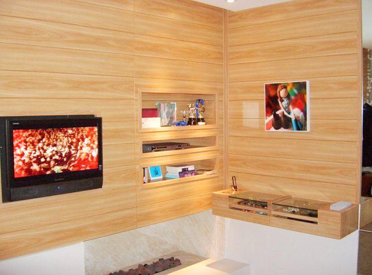 Revestimentos para paredes de madeira modelos e fotos  ~ Revestimento Em Pvc Para Quarto