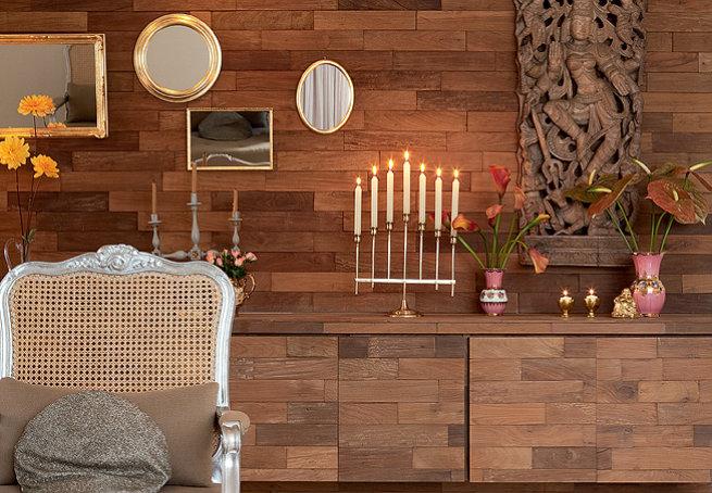 Revestimentos para paredes de madeira modelos e fotos for Paredes revestidas con ceramicas