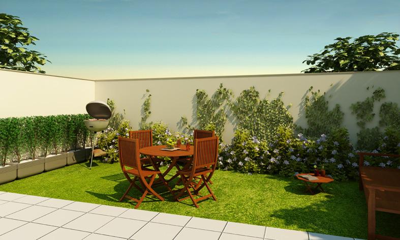 Jardins de casas simples e pequenas decorando casas for Jardines pequenos para casas pequenas