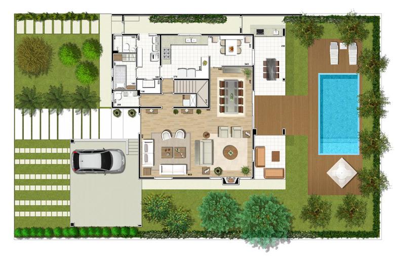 Plantas modernas de casas de luxo decorando casas for Casas modernas plantas