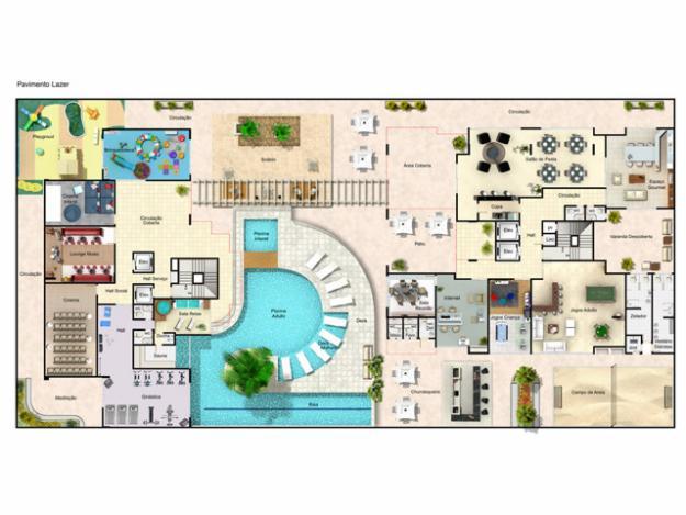 Plantas modernas de casas de luxo decorando casas for Plantas de casas modernas con piscina