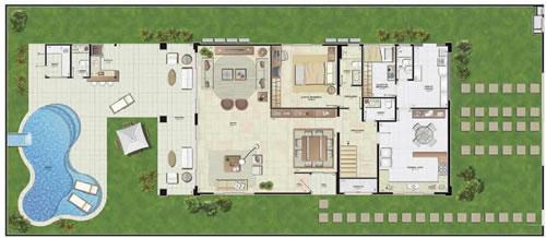 Plantas modernas de casas de luxo decorando casas for Casas modernas grandes por dentro