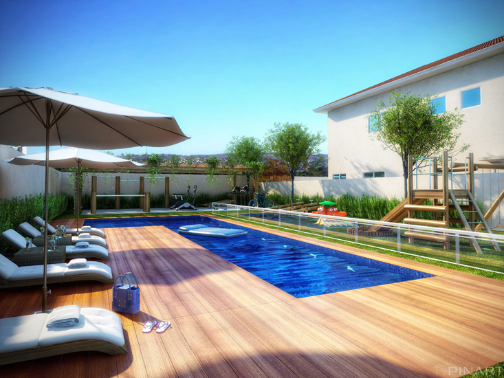 Projetos de piscinas residenciais gr tis decorando casas for Alberca residencial