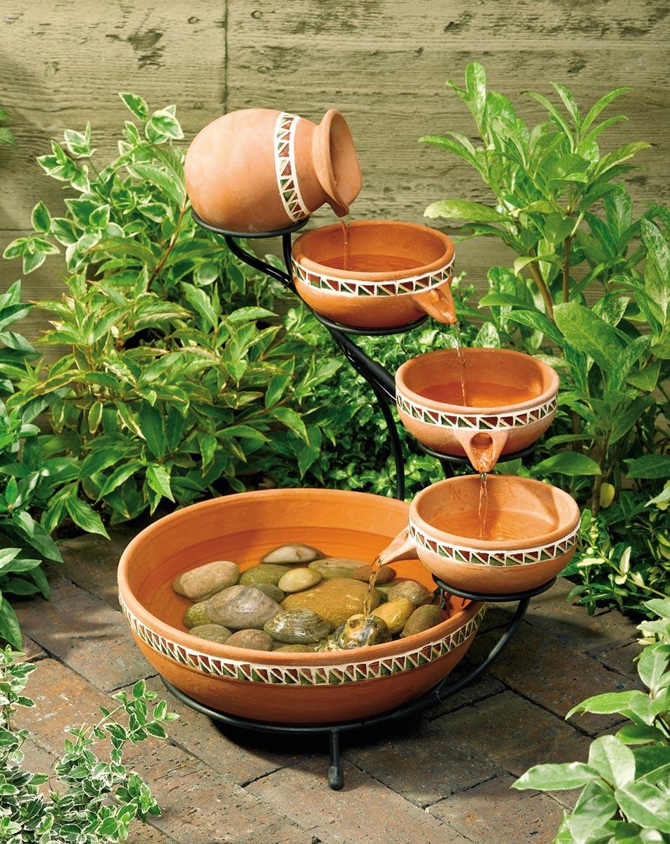 Decora o para jardim de inverno pequeno decorando casas - Fuente solar jardin ...