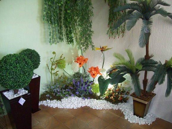 Decoração para jardim de inverno pequeno  Decorando Cas -> Banheiro Pequeno Com Jardim De Inverno
