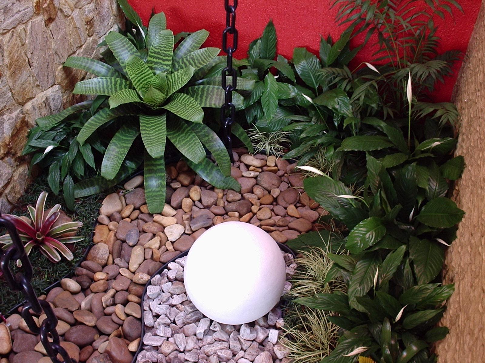 Decoraç u00e3o para jardim de inverno pequeno Decorando Casas