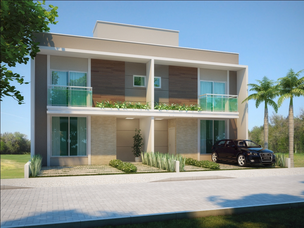 Fotos de fachadas de casas duplex decorando casas for Casa moderno a