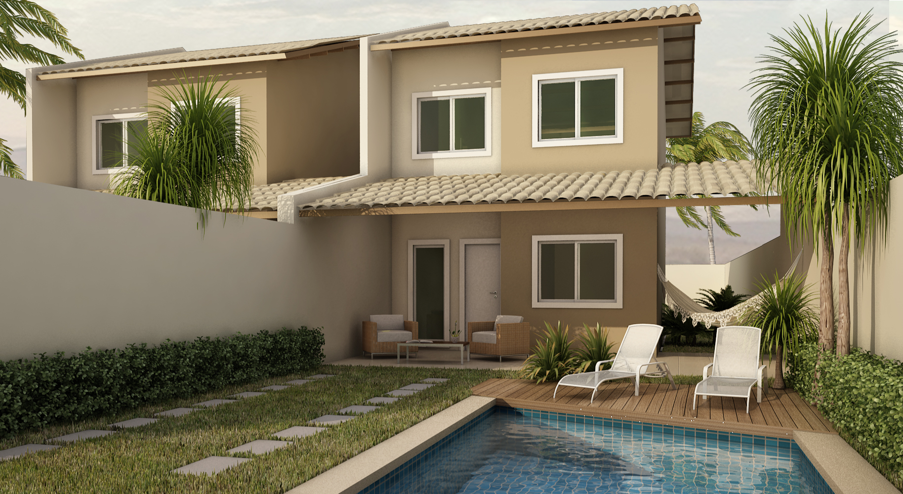 Fotos de fachadas de casas duplex decorando casas - Fotos casas bonitas ...