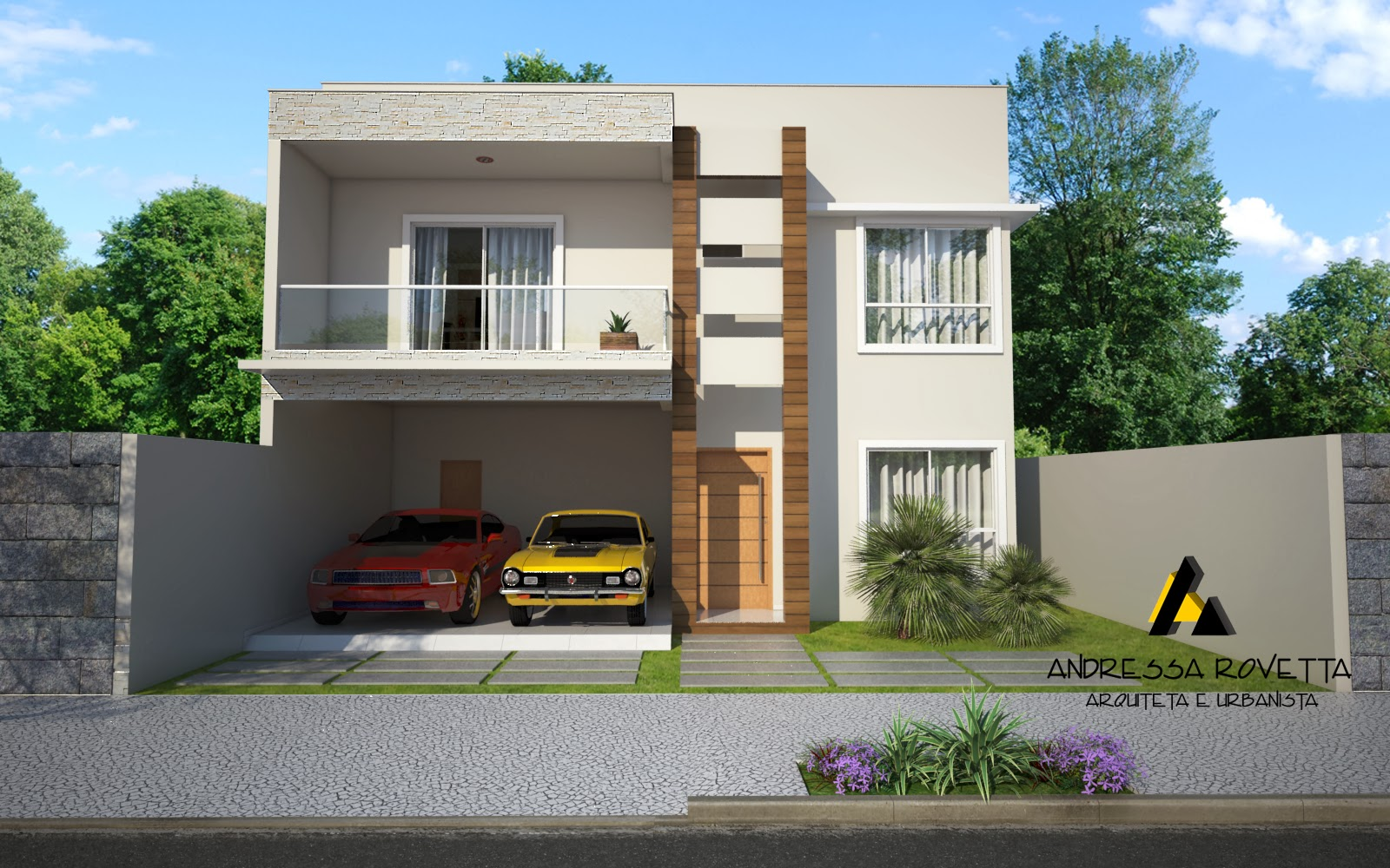 Fotos de fachadas de casas duplex decorando casas for Fachadas para apartamentos pequenos