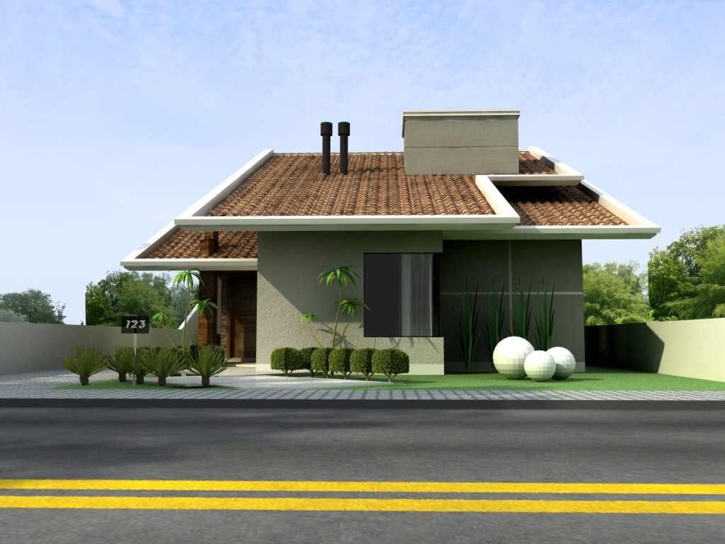fachadas de casas modernas terreas fotos decorando casas
