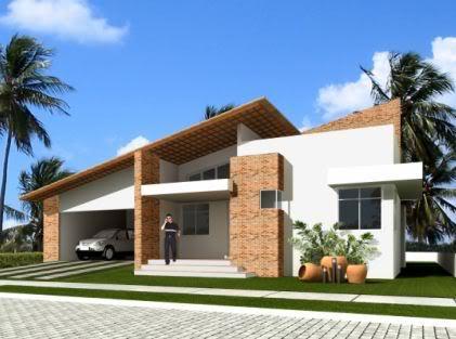Fachadas de casas modernas terreas fotos decorando casas - Casas rusticas modernas fotos ...