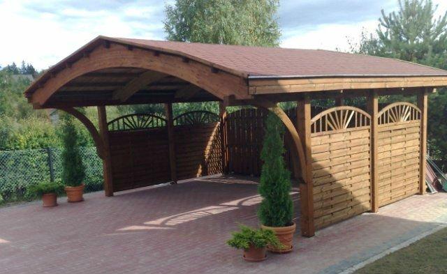 Fotos de garagem de madeira para carros decorando casas - Gazebo a vendre pas cher ...