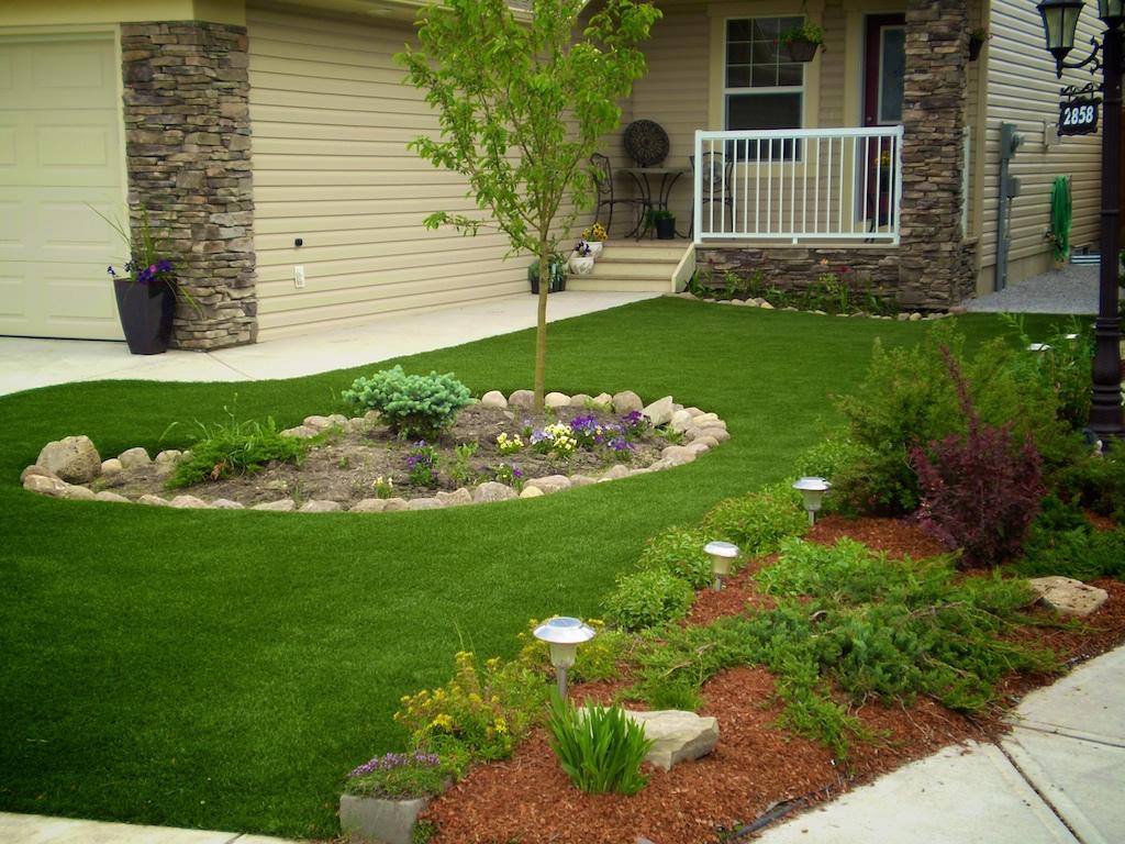 Grama sintetica para jardim pre o e fotos decorando casas for Modelos jardines para casas pequenas