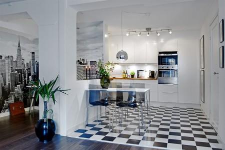 Pisos porcelanato preto e branco decorando casas Pisos para cocinas fotos