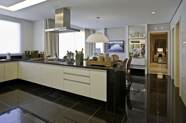 decoracao piso branco : decoracao piso branco:Pisos porcelanato preto e branco