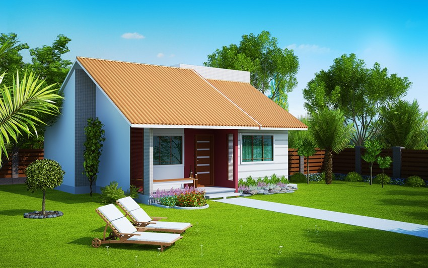 Projetos de casas com 2 quartos fotos decorando casas for Casas modernas simples
