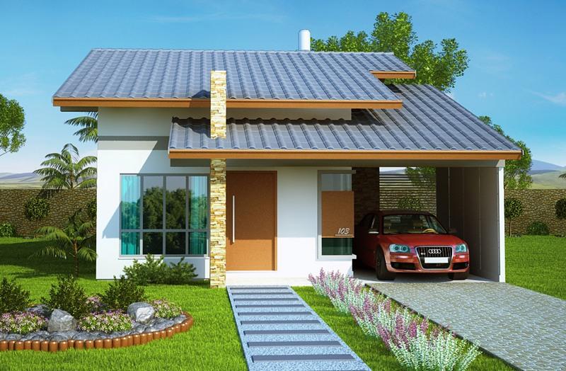 Projetos de casas com 2 quartos fotos decorando casas for Casa moderna 80m2