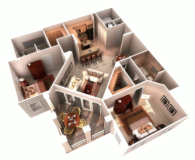 Fotos de projetos de casas 3d gr tis decorando casas for Simulador interiores 3d