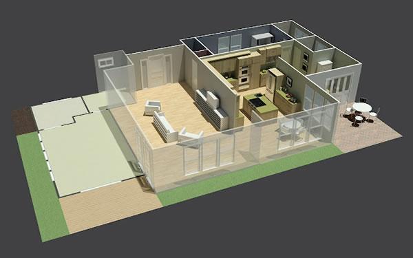 Fotos de projetos de casas 3d gr tis decorando casas for Programa para disenar habitaciones en 3d