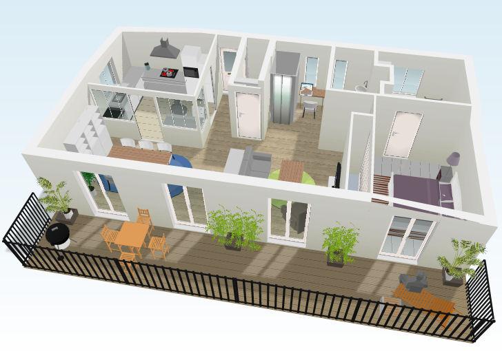 Fotos de projetos de casas 3d gr tis decorando casas for Casa moderna 90m2