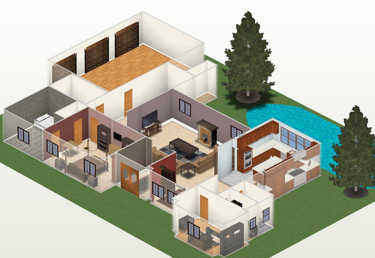 Fotos de projetos de casas 3d grátis Decorando Casas #01A2B7 1275 878