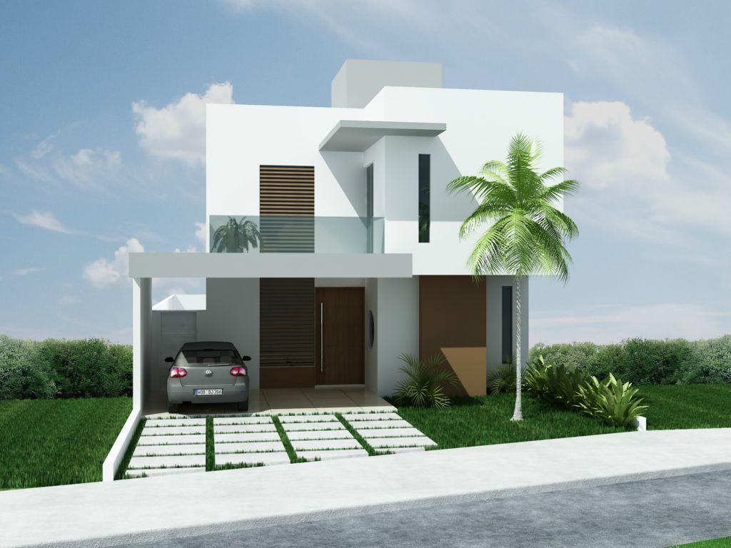 Projetos de sobrados com 3 quartos grátis Decorando Casas #466985 1024 768