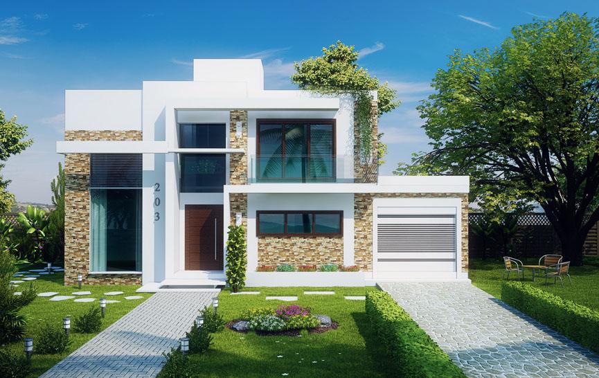 Projetos de sobrados com 3 quartos gr tis decorando casas for Casa moderna 2 andares 3 quartos