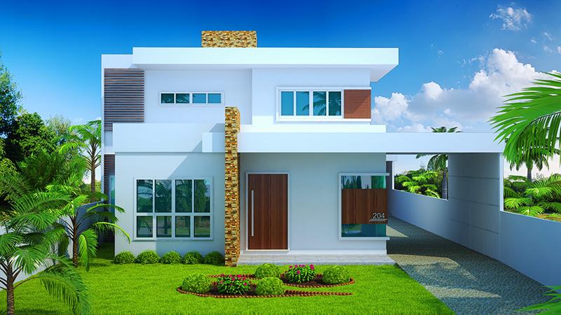 Projetos de sobrados com 3 quartos gr tis decorando casas for Modelos jardines para casas pequenas