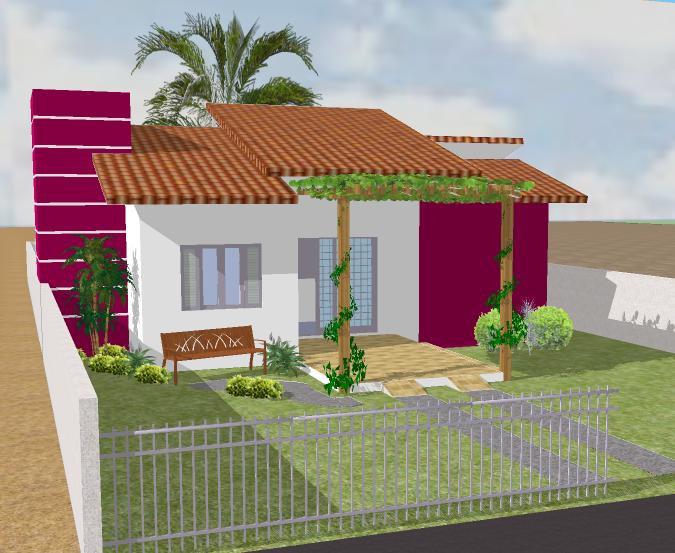 Projetos de casas modernas e pequenas gr tis decorando casas for Casas pequenas con fachadas bonitas