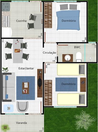 Projetos de casas modernas e pequenas gr tis decorando casas for Precio reforma completa piso 70 metros