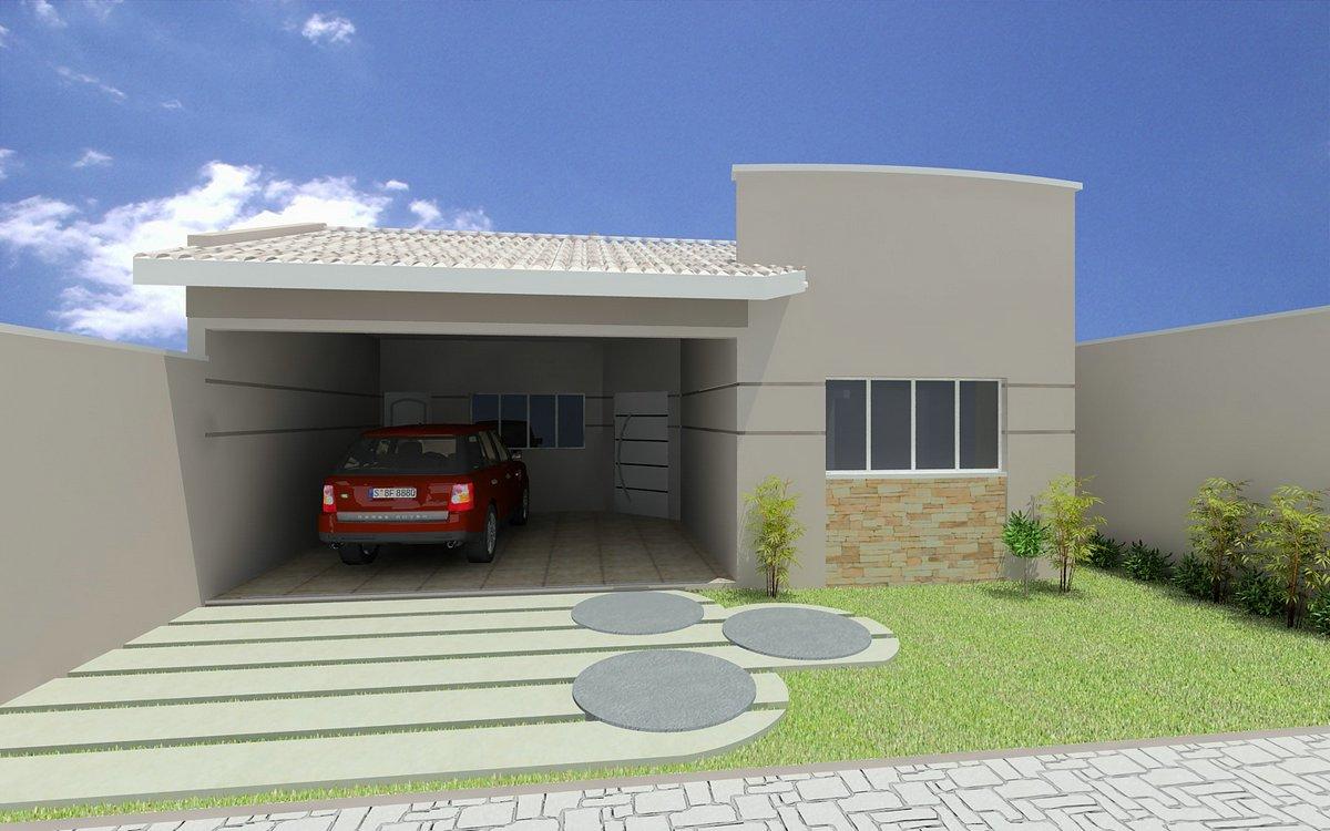 Projetos de casas modernas e pequenas gr tis decorando casas for Casa moderna baratas