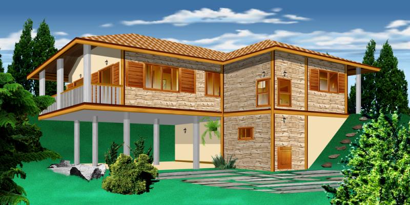Projetos de casas de campo modernas decorando casas for Casas modernas de campo