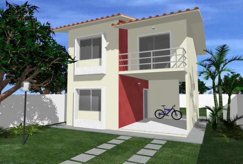 Projetos de sobrados pequenos e modernos decorando casas for Modelo de casa x dentro