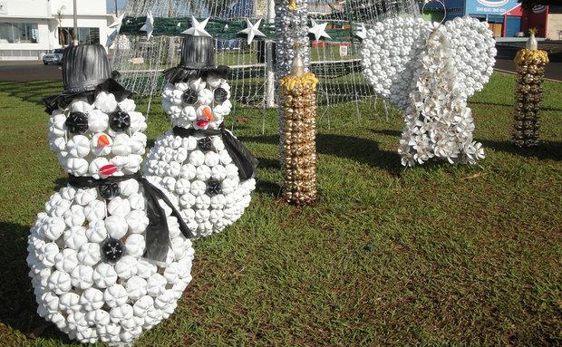 ideias jardim reciclado : ideias jardim reciclado:Decoração de jardim com material reciclado