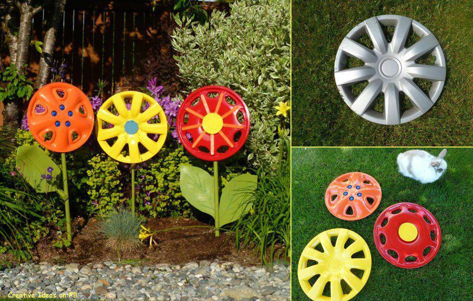 Decora 231 227 o de jardim com material reciclado decorando casas