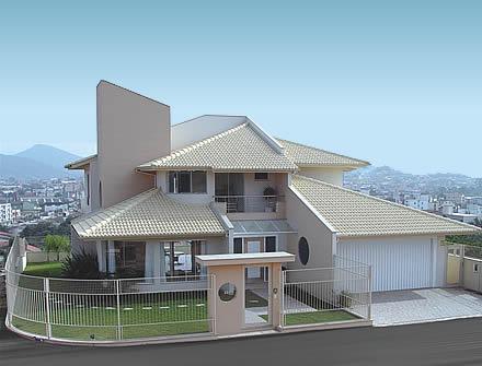 Telhados de casas 3 aguas