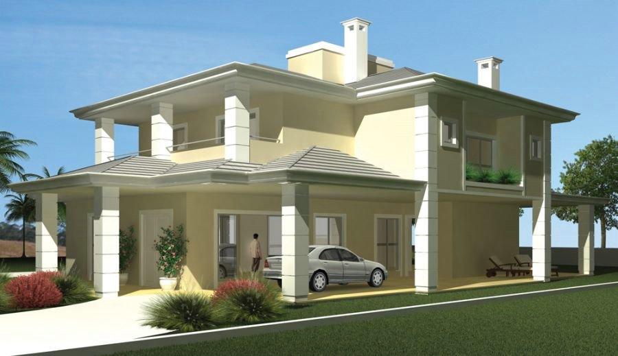 Fotos de fachadas de casas modernas com telhado aparente for Fachadas modernas para casas 2016