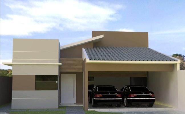 Fotos de fachadas de casas modernas com telhado aparente for Modelos de fachadas modernas