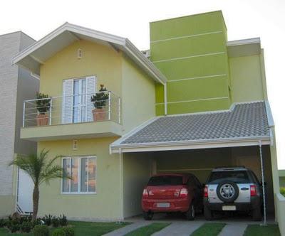 Fotos de fachadas de casas modernas com telhado aparente for Casas modernas pintadas
