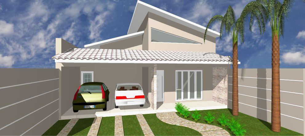 Fotos de fachadas de casas modernas com telhado aparente for Modelos de fachadas modernas para casas