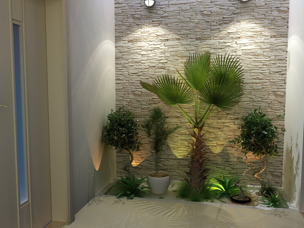 fazer iluminacao jardim:Jardines Interiores De Casa