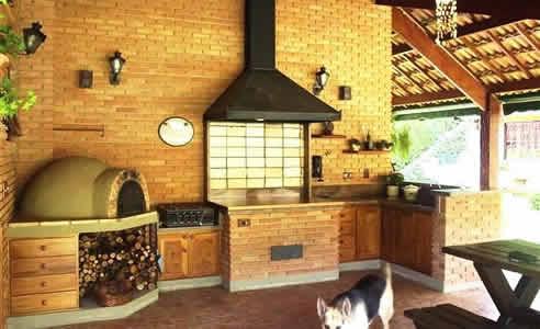 Fotos de decora o de rea de lazer r stica decorando casas for Piso rustico moderno