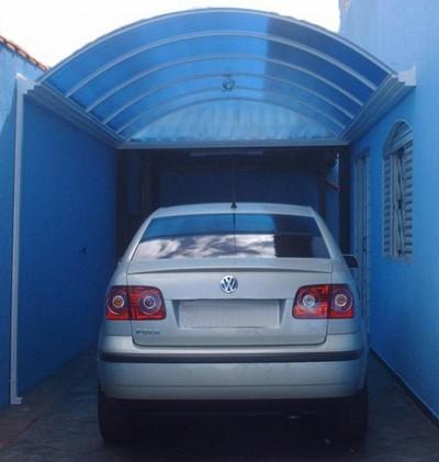Garagem de policarbonato preço