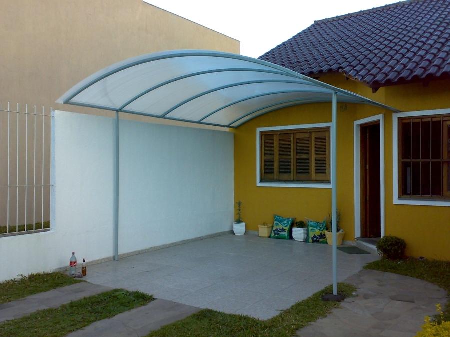 Cobertura de garagem em policarbonato pre os e fotos for Tubos de aluminio para toldos