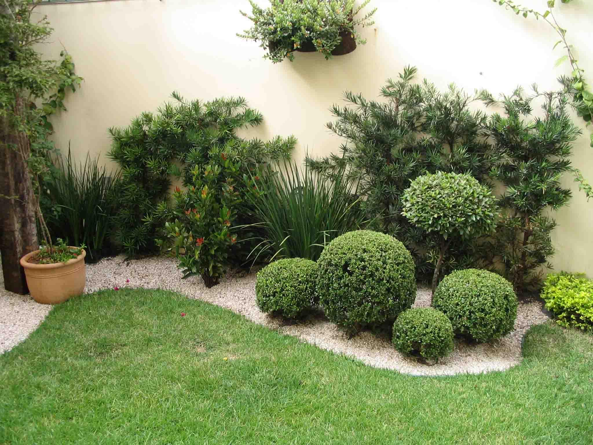 Como fazer um jardim simples e barato no quintal Decorando Casas #71913A 2048 1536